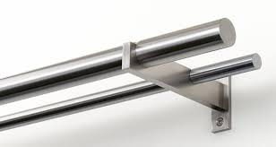 mira stainless steel curtain rods custom made stainless steel or
