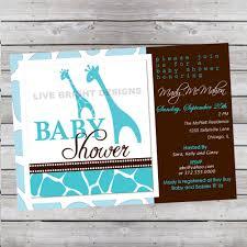 Safari Boy Baby Shower Ideas - design giraffe baby shower invitations
