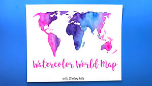 Watercolor Map Of The World by How To Paint A Watercolor World Map Shelley Hitz Skillshare
