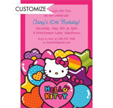 custom rainbow kitty invitations u0026 notes party