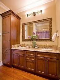 Bathroom Cabinet With Hamper Bathroom Linen Tower Foter