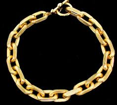 large gold link necklace images Heavy chunky textured cable link chain gold plated choker necklace jpg