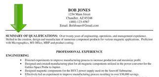 resume career summary resume synopsis sample resume examples