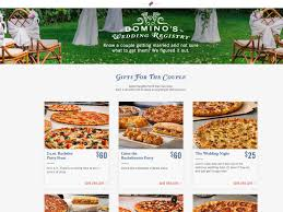 how to do a wedding registry stop everything domino s now has a pizza wedding registry