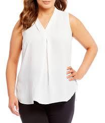 white sleeveless blouse plus size tops blouses dillards