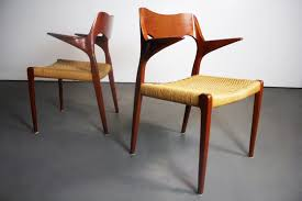 Set Of Teak Dining Table Niels Moller 55 Teak Dining Chairs With Danish Cord U2013 A Set Of 2