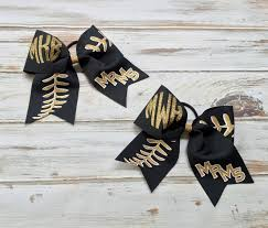 softball bows hair bows cheer bows softball bows monogrammed cheer bows