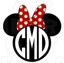 minnie mouse monogram monogram minnie mouse ears heads personalized initials digital