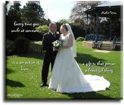 Bride And Groom Quotes Mother Teresa Quotes