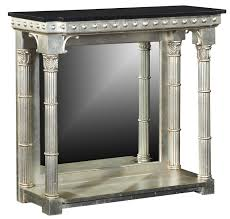 Silver Console Table Silver Console Table With Black Granite Top Console Hall Tables