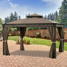 Covered Gazebos For Patios Gazebo Replacement Canopy Top Cover Replacement Canopy Covers For