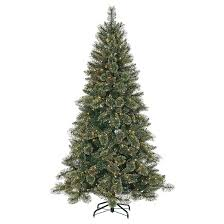 7 5 pre lit artificial tree gold glitter pine