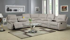 Grey Sofa Recliner by Furniture Excellent Beige Sectional Sofa For Your Living Room