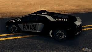 police lamborghini lamborghini aventador lp 700 4 police for gta san andreas