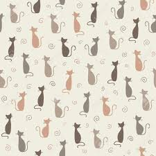 wallpaper cat illustration seamless stylish color cats pattern illustration royalty free