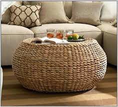 Seagrass Storage Ottoman Wicker Storage Ottoman Coffee Table Modern Plan 7