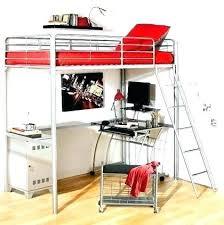 bureau sous mezzanine lit mezzanine ado avec bureau et rangement lit hauteur bureau