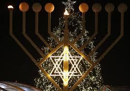 hanukkah lights decorations christmas tree or hanukka bush do they their place in a
