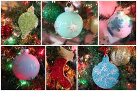 diy ornaments glitter ornaments and paint filled ornaments