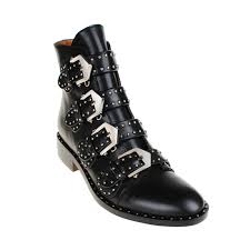 black biker boots exclusive lewis studded buckled biker ankle boots black in shoes