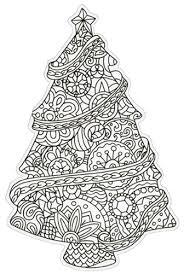 tree die cut coloring card blank note card by paper