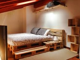 Making A Platform Bed From Pallets by 5 Diy Beds Made From Wooden Pallets 99 Pallets