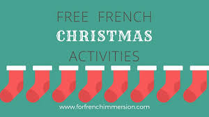 free french christmas activities for french immersion
