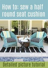 Patio Chair Seat Pads How To Sew A Half Seat Cushion Cover For My Outdoor