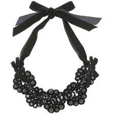 velvet ribbon necklace images Adele marie black bead and velvet ribbon bib necklace polyvore out=j