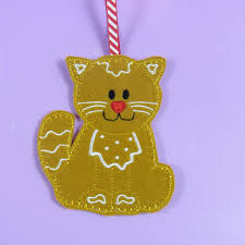 gingerbread christmas decorations santa xmas decs embroidered