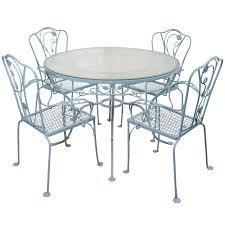 Antique Rod Iron Patio Furniture by Vintage Iron Patio Table And Chairs Modern Patio