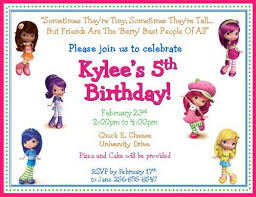 12 strawberry shortcake and friends personalized invitations