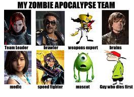 Zombie Team Meme - zombie apocalypse team by toxicsnakeskull on deviantart