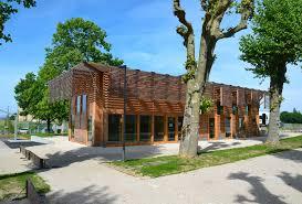 soubassement bois kit médiathèque à roannes u2013 architecture bois magazine u2013 maisons bois