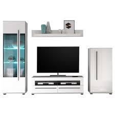 Wohnzimmerschrank Ohne Tv Fach Tv Wohnwand Bistian In Weiß Hochglanz Pharao24 De