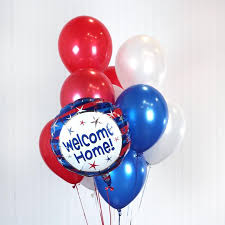 welcome home balloon bouquet welcome home patriot balloon bouquet zurchers balloons