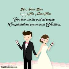 wedding congratulations congratulations with names