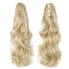 clip in ponytail 145g 613 curly synthetic claw clip in ponytail