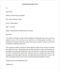 sample solicitation letter for donations for death word download