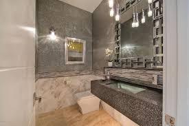 Modern Powder Room - modern powder room with wall sconce u0026 pendant light in paradise