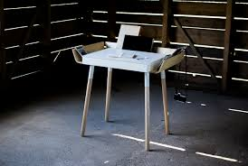 Small Writing Desks For Small Spaces Concrete Flooring And Wooden Wall Used In Contemporary Room With