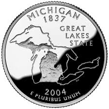 First State Quarters Of The United States Collectors Map by Michigan State Quarter U S Mint