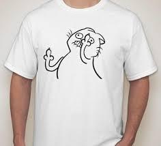 Tshirt Meme - middle finger fu cat meme t shirt blasted rat