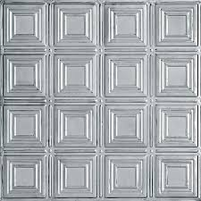 Shop Armstrong Ceilings In X In Stainless Steel Metal - Metal backsplash