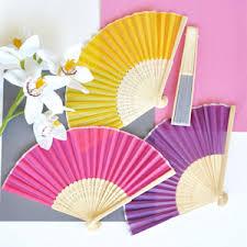 silk fan held folding silk fan favors 12 colors