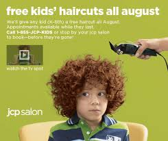 free kids hair cuts at jcpenney in august frugal lancaster