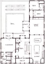 U Shaped House Plans With Pool In Middle L Shaped House Design For Back Corner Of Camp Expansion For The