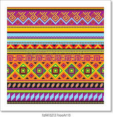 free print of mexican background vector seamless background