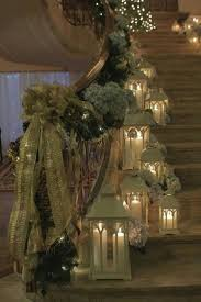 Banister Decorations For Christmas Christmas Banister Decorations The Abundance Of The Ribbon And