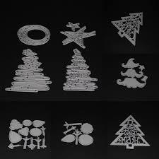aliexpress com buy xmas christmas tree cutting dies stencils diy
